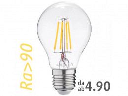 LED Bulb : onlux FiLux A60-4C E27 4-Filament LED 230V - 3.1W 360lm Ra>90 300°(35W)